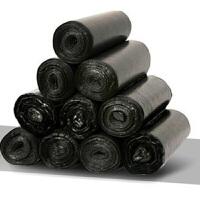 5卷装黑色垃圾袋加厚一次性塑料袋中大号卫生间厨房家用垃圾袋