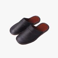 当当优品 牛皮拖鞋 居家拖鞋 保护地板防滑拖鞋