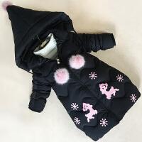 儿童棉衣2017新款女童装外套中长款羽绒加厚保暖中大童棉袄