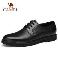 camel骆驼男鞋 秋季新款正装皮鞋牛皮防滑系带办公皮鞋休闲通勤男
