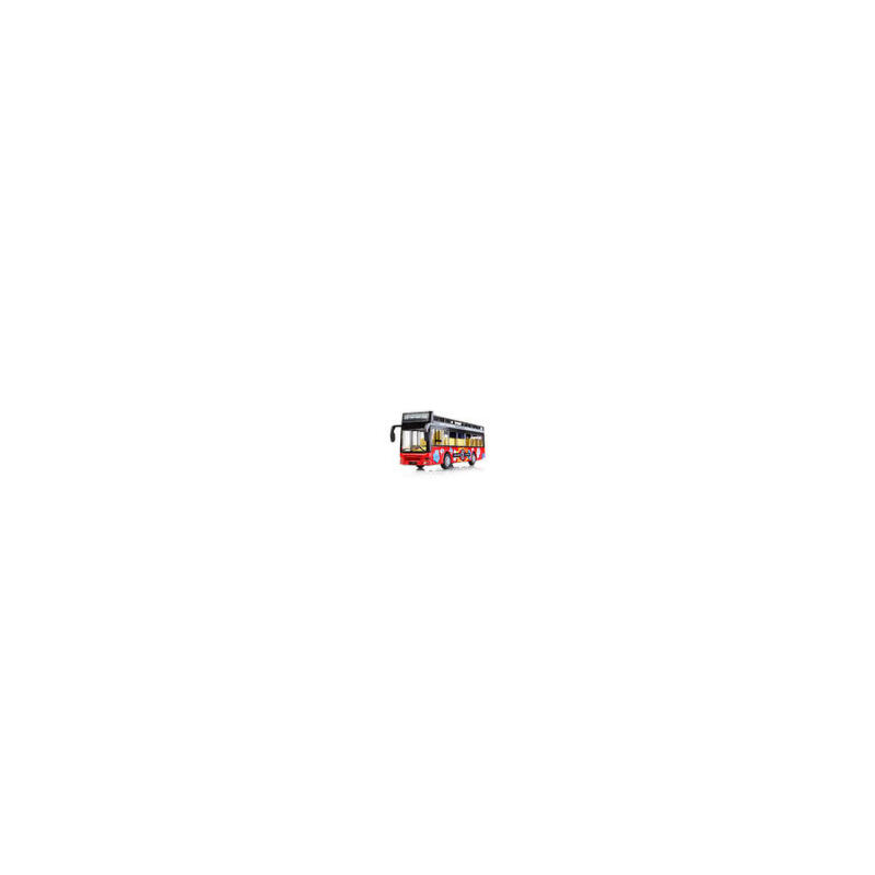公交车模型仿真玩具车模男孩可开门双层巴士大号声光公共汽车回力