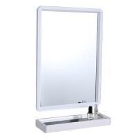方形卫生间镜子带置物架洗手间洗漱台壁挂简约卫浴室镜粘贴免打孔 其他