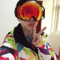 滑雪镜 男女可换镜片滑雪眼镜球面大视野双层雪镜