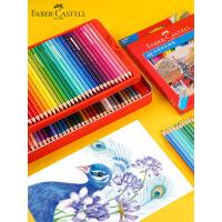 德国辉柏嘉油性彩铅经典骑士系列48色手绘专业彩色铅笔72色套装初学者绘画笔学生用100色城堡