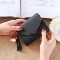 新款2018新款时尚小钱包女短款日韩版小清新流苏迷你学生女士钱包钱夹