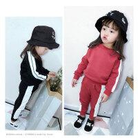 女童运动套装2018新款中小童韩版时尚潮衣春季两件套儿童洋气春装