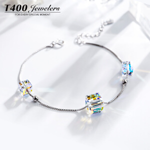 T400采用施华洛使其元素水晶手链女 韩版时尚百搭学生简约气质款   3747