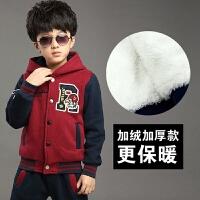 童装套装6男童装秋装10卫衣12大童运动13儿童加厚套装8岁男孩潮