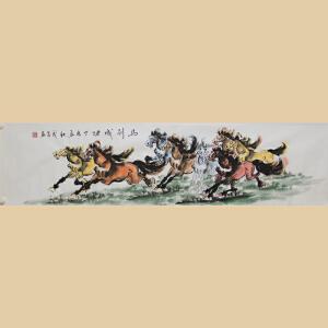 《马到成功》国家一级美术师,中国美协会员林茂昌【真迹819】