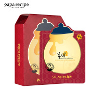 papa recipe 春雨 红参蜂蜜精油补水面膜10片/盒(韩国进口 滋润保湿平衡水油 敏感肌肤可用)