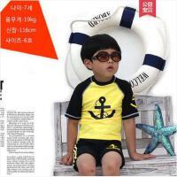 儿童速干保暖分体泳衣户外新款男童水手男宝宝泳裤冲浪服温泉沙滩泳装