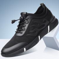 春季休闲跑步男鞋内增高板鞋透气网面运动鞋男士青年韩版潮流鞋子