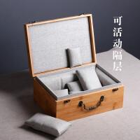精品茶具杯子包装盒活动内格建盏茶杯紫砂壶礼品盒竹盒竹制盒子Q