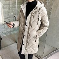 冬季羽绒服男士中长款连帽外套学生潮流韩版加厚大衣DS275