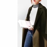 Ⅱ 新款 纯色 双面全羊毛呢大衣 女