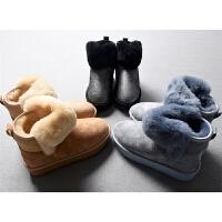 轻奢真皮毛一体防滑耐磨橡胶松糕底超保暖加厚雪地靴秋冬女鞋1.37