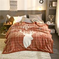 拉舍尔毛毯加厚双层单人珊瑚绒毯子冬季学生宿舍法兰绒被子