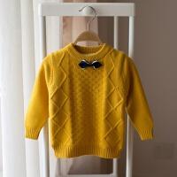 男童毛衣加绒加厚小童儿童针织打底线衫宝宝婴儿保暖套头衫0-3岁