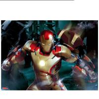 成人拼图500/1000片复仇者联盟儿童益智3D拼图玩具钢铁侠AR技术