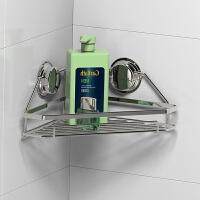 强力吸盘置物架 卫生间不锈钢三角架 浴室吸壁式免打孔收纳架 吸盘三角架