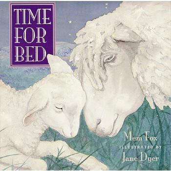 【现货】英文原版 该睡觉了 Time for Bed 纸板书 0-3岁低幼 睡前读物 Time for Bed 9780152010669 国营进口!品质保证!