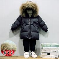 男童棉衣装男宝宝中长款加厚羽绒小孩儿童棉袄外套