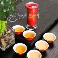 尚帝 陶瓷功夫茶具 玻璃红茶茶具套装七件XMBH2014-119A1