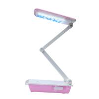 雅格新款LED学生宿舍充电台灯带夜灯功能折叠便携