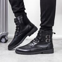 2017秋季新款马丁靴男靴子男士高帮鞋男鞋英伦韩版工装靴短靴雪地靴军靴皮靴