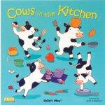 【现货】英文原版 厨房里的奶牛 Cows in the Kitchen 纸板洞洞书无音频 1-3岁适读 廖彩杏书单推荐