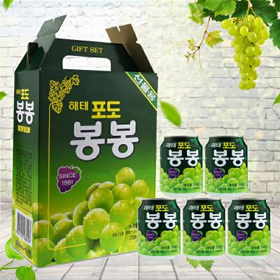 【包邮】韩国进口 海太葡萄汁果汁饮料 含果粒饮料饮品 238g*12瓶  一箱限时促销!优惠大促!限时抢购!
