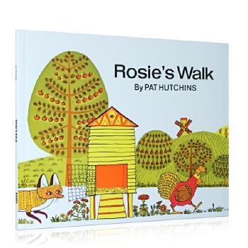 Rosie's Walk 母鸡萝丝去散步ISBN9780020437505英语英文原版绘本 (ISBN 9780020437505,Pat Hutchins 佩特·哈群斯成名作,少儿英语绘本、英文绘本,适合3-6岁儿童)