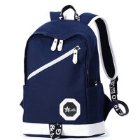 双肩包男士旅行背包帆布青年中学生个性书包