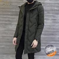 新款羽绒服男士保暖中长款连帽外套学生潮流韩版冬季加厚大衣男装DJ-DS275