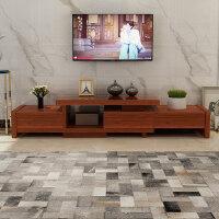 20190403042853326实木电视柜茶几组合现代简约客厅伸缩家具套装中式小户型储物地柜 组装
