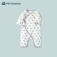 迷你巴拉巴拉新生婴儿连体衣系带2021春款男女宝宝哈衣爬服