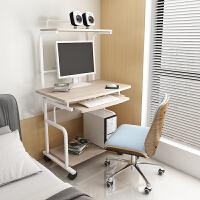 迷你电脑桌简约现代书桌 经济型小台式办公桌 可移动双层桌子家用 套餐三【+椅】