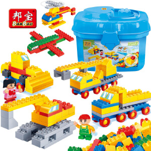 【当当自营】邦宝大颗粒3-6周岁交通认知益智早教拼插幼儿园儿童积木玩具6507