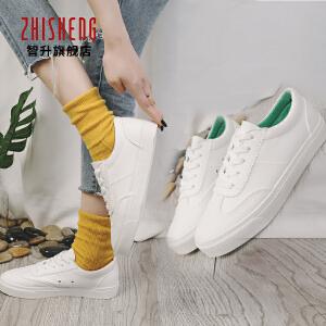 2018春款小白鞋帆布鞋系带低帮休闲韩版运动鞋女板鞋学生单鞋