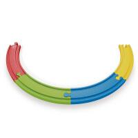 Hape彩虹轨道扩展包18个月以上儿童早教火车轨道配件玩具婴幼玩具木制玩具E3804