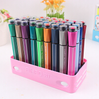 爱好儿童无毒带印章可水洗水彩笔12 18 24 36色六角涂鸦绘画笔套