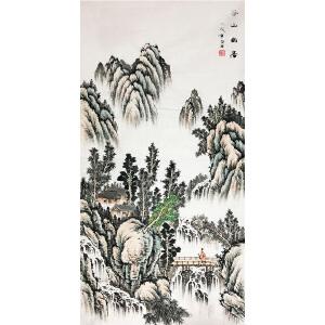张白羽《山水30》著名画家