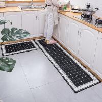 厨房地垫长条防油脚垫门口浴室垫进门入户地垫卧室客厅门垫床边毯 多尺寸可选择 黑白 马赛克