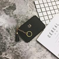 新款2018新款韩版钱包女短款小包薄款迷你流苏女士钱包拉链零钱包卡包