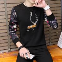 男士长袖T恤 2018秋新款圆领卫衣体恤衫青少年韩版潮流男装学生衣