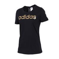 Adidas阿迪达斯 女装 2018新款运动休闲圆领透气短袖T恤 CV4566