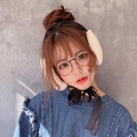 可爱ins耳罩保暖女冬季时尚韩版仿兔毛绒系带护耳捂耳耳帽耳朵套耳包