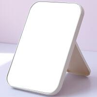 简约长方形桌面镜学生女高清化妆镜子台式梳妆镜子折叠便携化妆镜