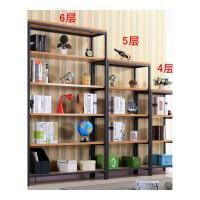 钢木客厅置物架层架落地组合铁书架储物架货架现代简约简易隔断架