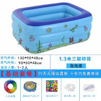 家用游泳池加厚游泳池家用超大号幼宝宝婴儿童充气大型家庭洗澡桶戏水池
